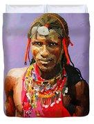 Maasai Moran Duvet Cover