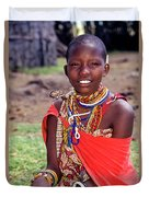 Maasai Teenager Duvet Cover