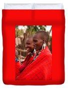 Maasai Women Duvet Cover