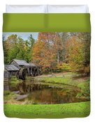 Mabry Mill In Fall 1 Duvet Cover