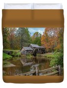 Mabry Mill In Fall 2 Duvet Cover
