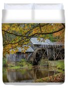 Mabry Mill In Fall 3 Duvet Cover
