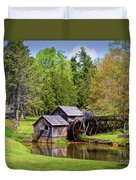 Mabry Mill In The Springtime On The Blue Ridge Parkway  Duvet Cover by Kerri Farley