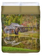 Mabry Mill Reflections Duvet Cover