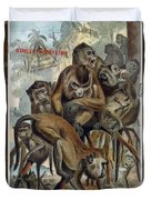 Macaques For Responsible Travel Duvet Cover
