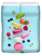 Falling In Love With Macaroons  Duvet Cover