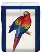 Macaw By_edward_lear Duvet Cover