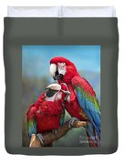Macaw Love Duvet Cover