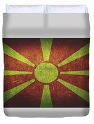 Macedonia Distressed Flag Dehner Duvet Cover