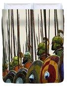 Macedonian Phalanx Duvet Cover