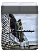 Machine Gun Wwii Aircraft Color Duvet Cover