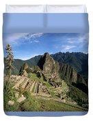 Machu Picchu And Bromeliad Duvet Cover