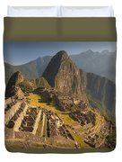 Machu Picchu At Dawn Near Cuzco Peru Duvet Cover