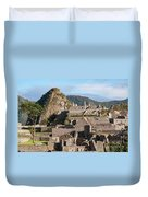 Machu Picchu City Archecture Duvet Cover