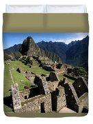 Machu Picchu Residential Sector Duvet Cover