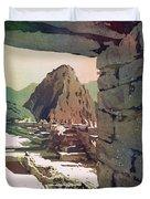 Machu Picchu Vista- Peru Duvet Cover