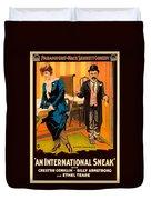 Mack Sennett Comedy - An International Sneak 1917 Duvet Cover