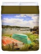 Mackerel Cove Dory And Dinghy   Duvet Cover