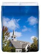 Mackinac Island Church Duvet Cover
