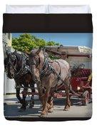 Mackinac Island Horse Carriage Duvet Cover