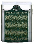 Mackinaw Conference Signage Mackinac Island Michigan Vertical Duvet Cover