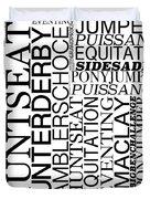 Maclay Word Art Duvet Cover