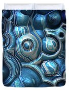 Macro 3d Blue Reflections Duvet Cover
