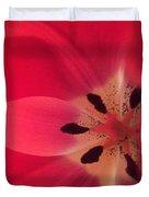 Macro Beauty Tulip Duvet Cover
