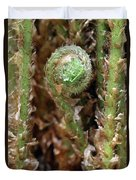 Macro Fern Sprout Duvet Cover
