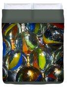 Macro Marbles Duvet Cover