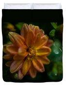 Macro Of Dahlia Flower Duvet Cover