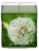 macro shot of a beautiful Dandelion. Duvet Cover