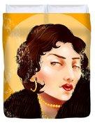 Madam Carbon Duvet Cover