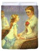 Madame Bouchet Et Ses Filles Duvet Cover