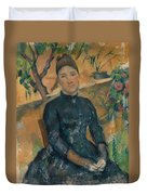 Madame Cezanne In The Conservatory Duvet Cover