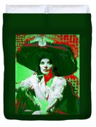 Madame Kate And The Big Hat Duvet Cover