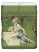 Madame Monet And Her Son Duvet Cover