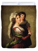 Madame Rousseau And Her Daughter Duvet Cover