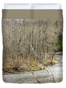 Madawaska Stream Bend Duvet Cover