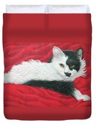 Maddie In Red Duvet Cover