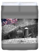 Made In America Red White And Blue Duvet Cover