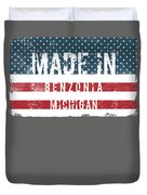 Made In Benzonia, Michigan Duvet Cover