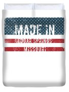 Made In Edgar Springs, Missouri Duvet Cover