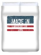 Made In Morning Sun, Iowa Duvet Cover