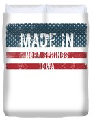 Made In Nora Springs, Iowa Duvet Cover