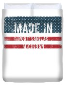 Made In Port Sanilac, Michigan Duvet Cover
