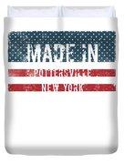 Made In Pottersville, New York Duvet Cover