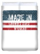 Made In Powder River, Wyoming Duvet Cover