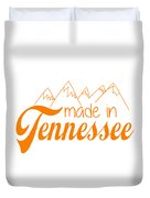 Made In Tennessee Orange Duvet Cover