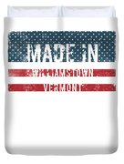 Made In Williamstown, Vermont Duvet Cover